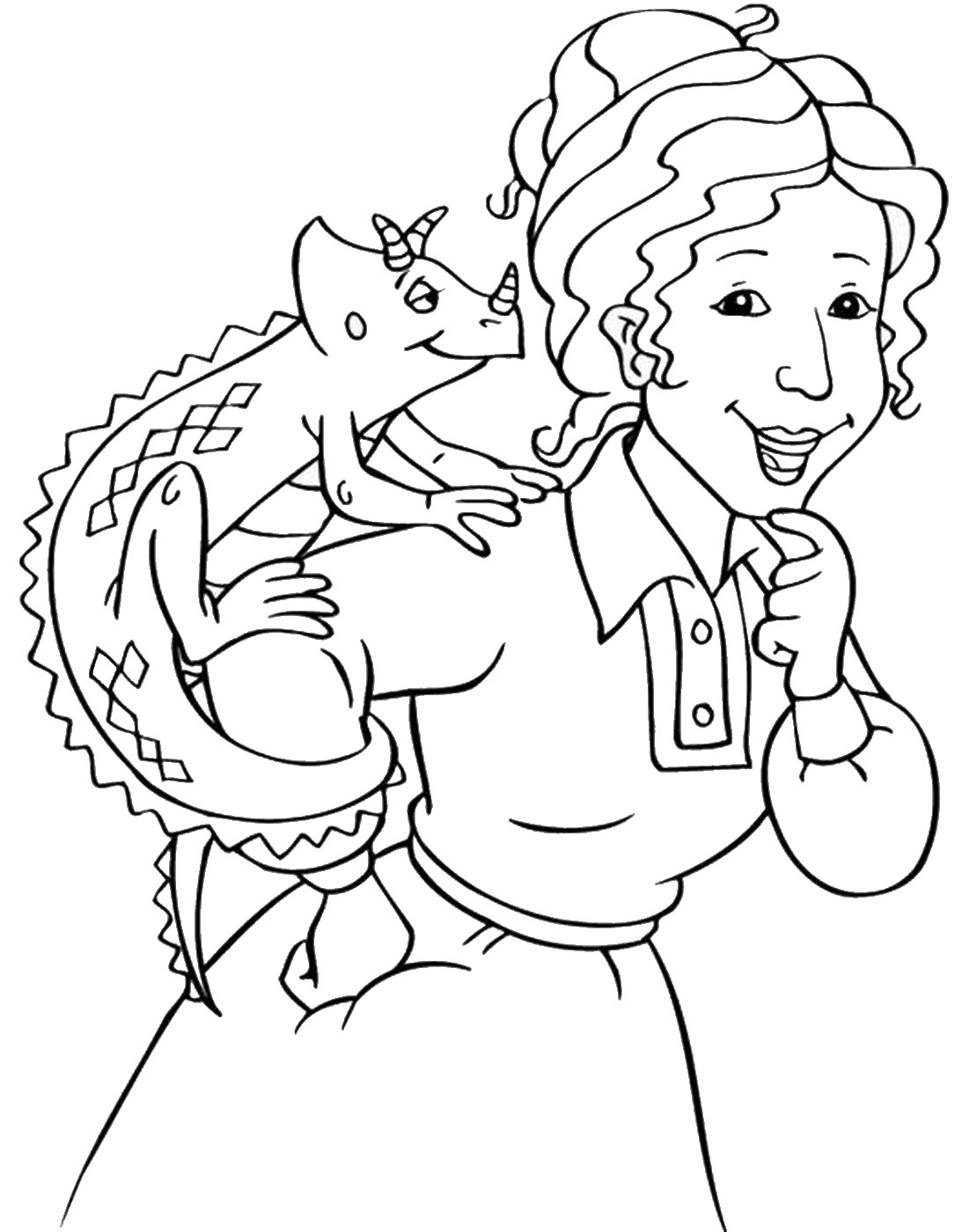 Magic Bus Coloring Pages