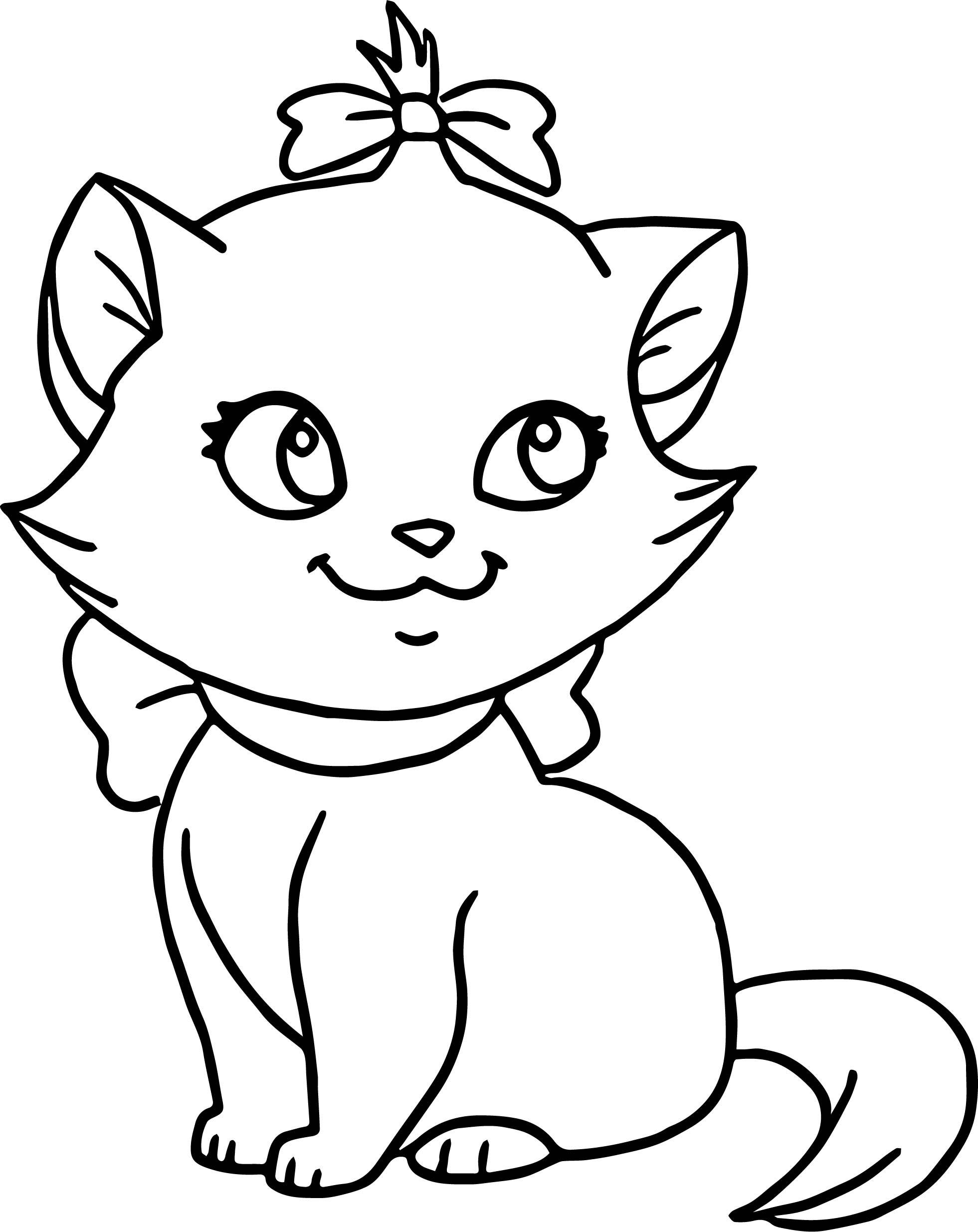 Baby Kitten Coloring Pages : kitten, coloring, pages, Preschool, Kitten, Coloring, Pages