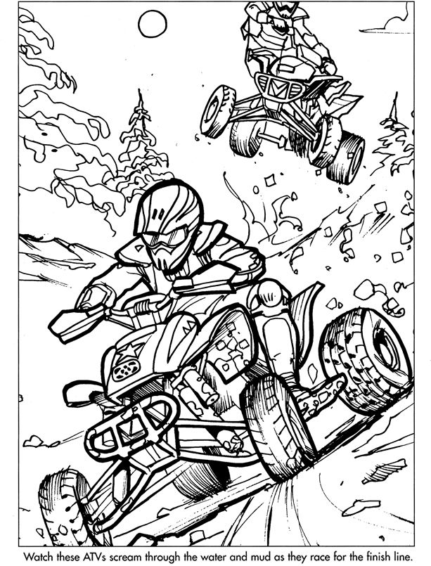 Four Wheeler Colouring Pages : wheeler, colouring, pages, Coloring, Pages