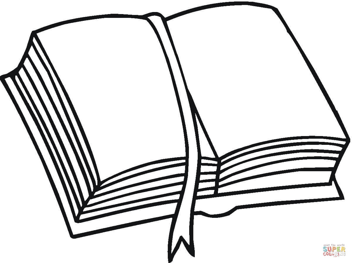 A Pile Of Books Coloring Page Book Pages Open Book Clip