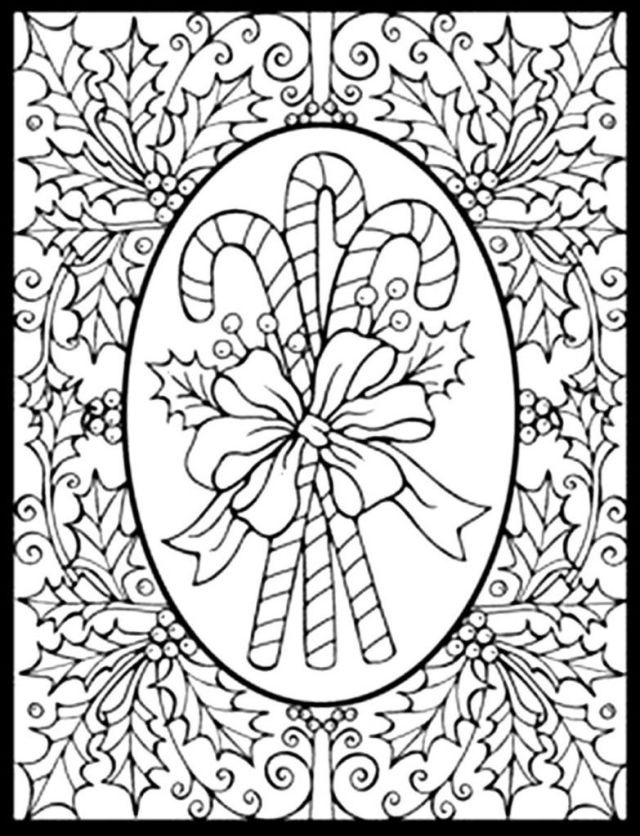 Coloring Pages: Printable Christmas Coloring Pages For Adults Step