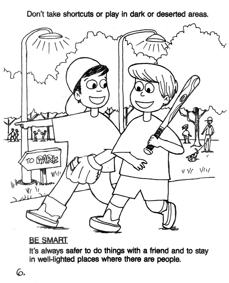 Strangerdanger Colouring Pages Inside Stranger Danger