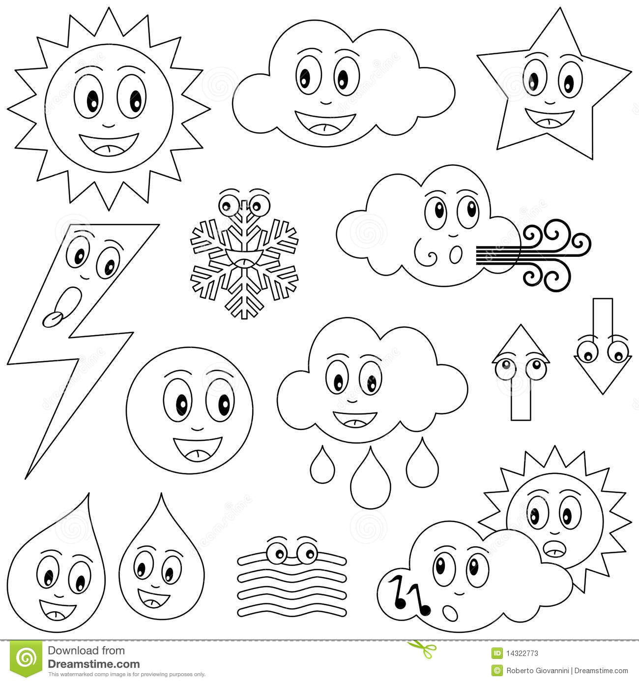 Weather Coloring Pages Preschool