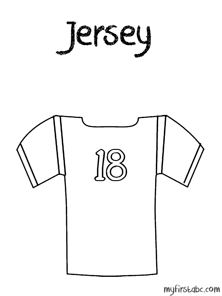 Football Coloring Pages Nfl Wwwazembrace Sports Jersey
