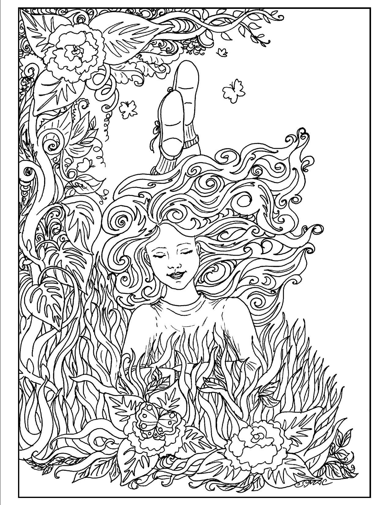 Art Nouveau Coloring Pages