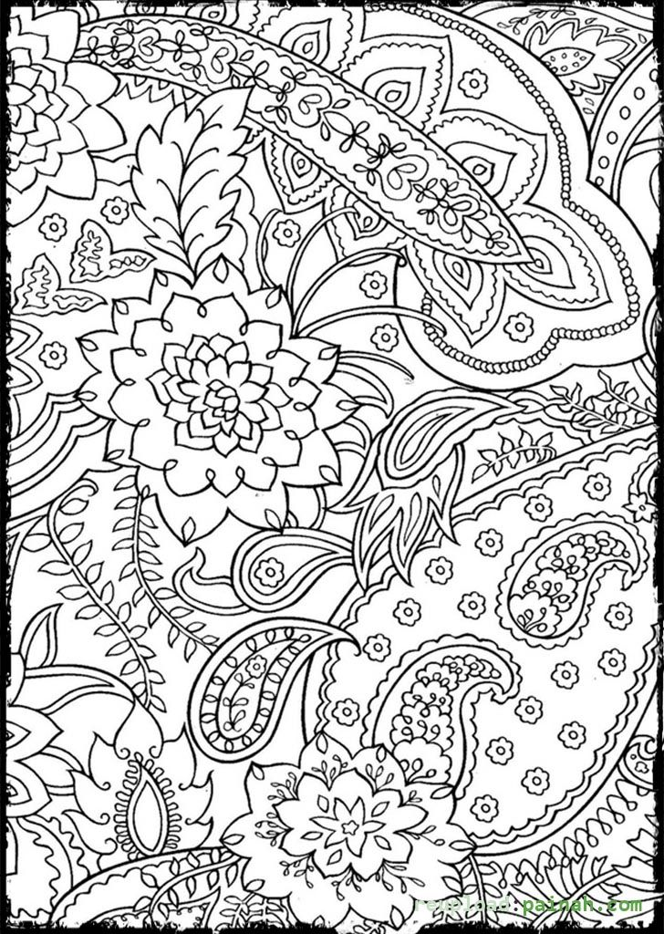 Mosaic Patterns Coloring Pages - Coloring Home | free printable coloring pages for adults advanced