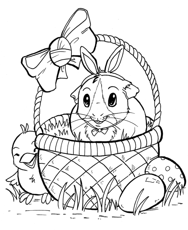 Guinea Pig Coloring Page - High Quality Coloring Pages - Coloring Home