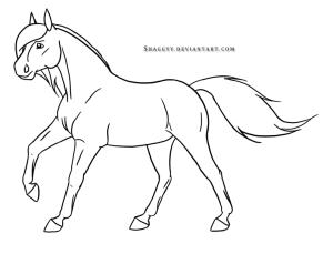 horse running drawings coloring deviantart horses easy hawks popular coloringhome