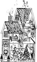 coloring colouring houses cabin adults adult christmas sheets drawing landscape dolls mandalas comments visitar
