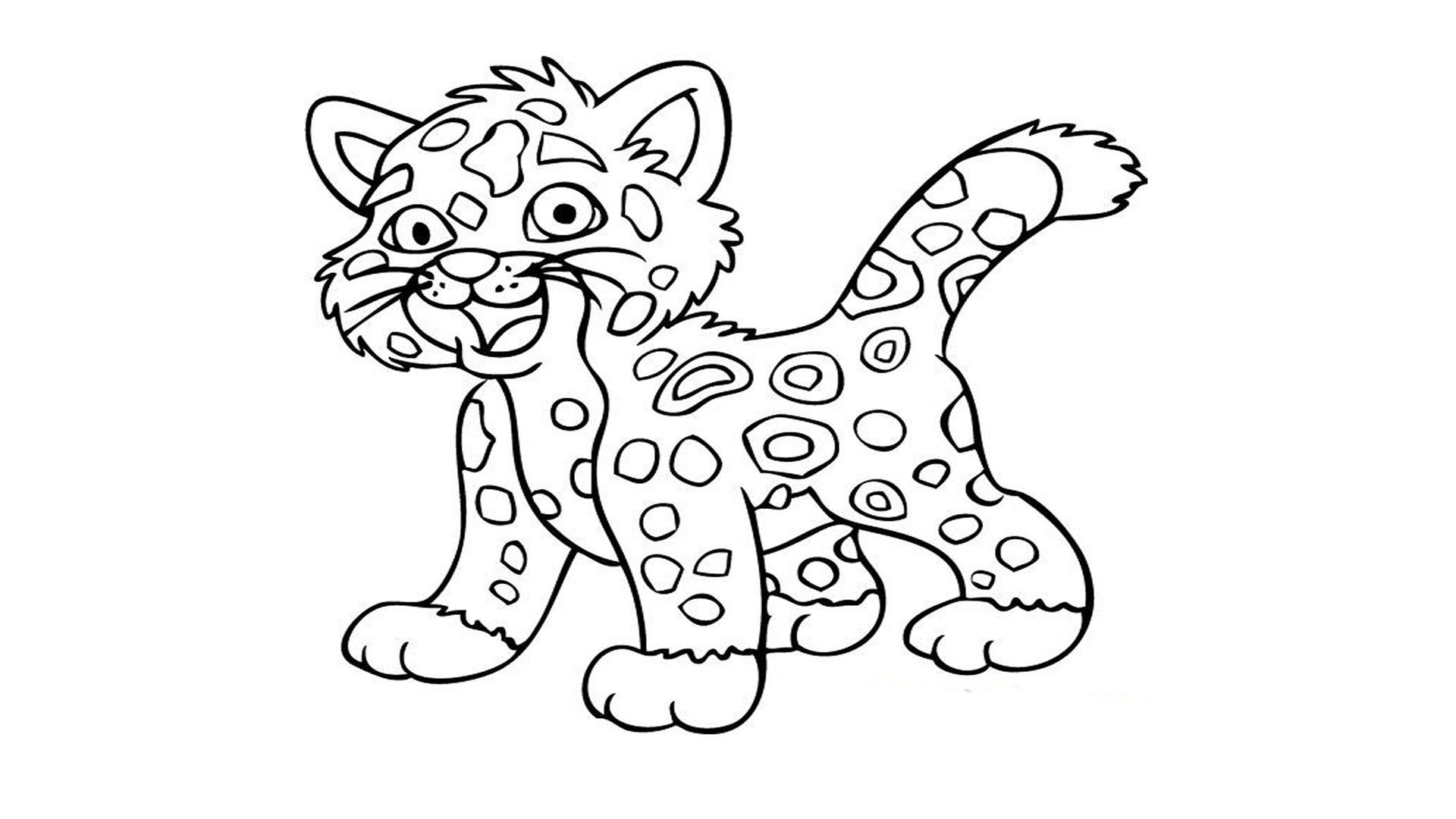 Cute Baby Tiger Coloring Pages