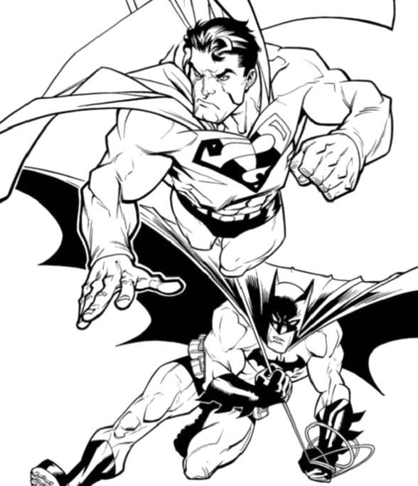 Batman And Superman Coloring Pages Coloring Home