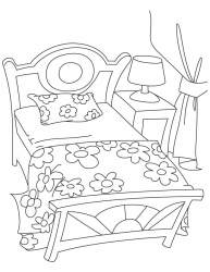 Bed Coloring Pages Coloring Home