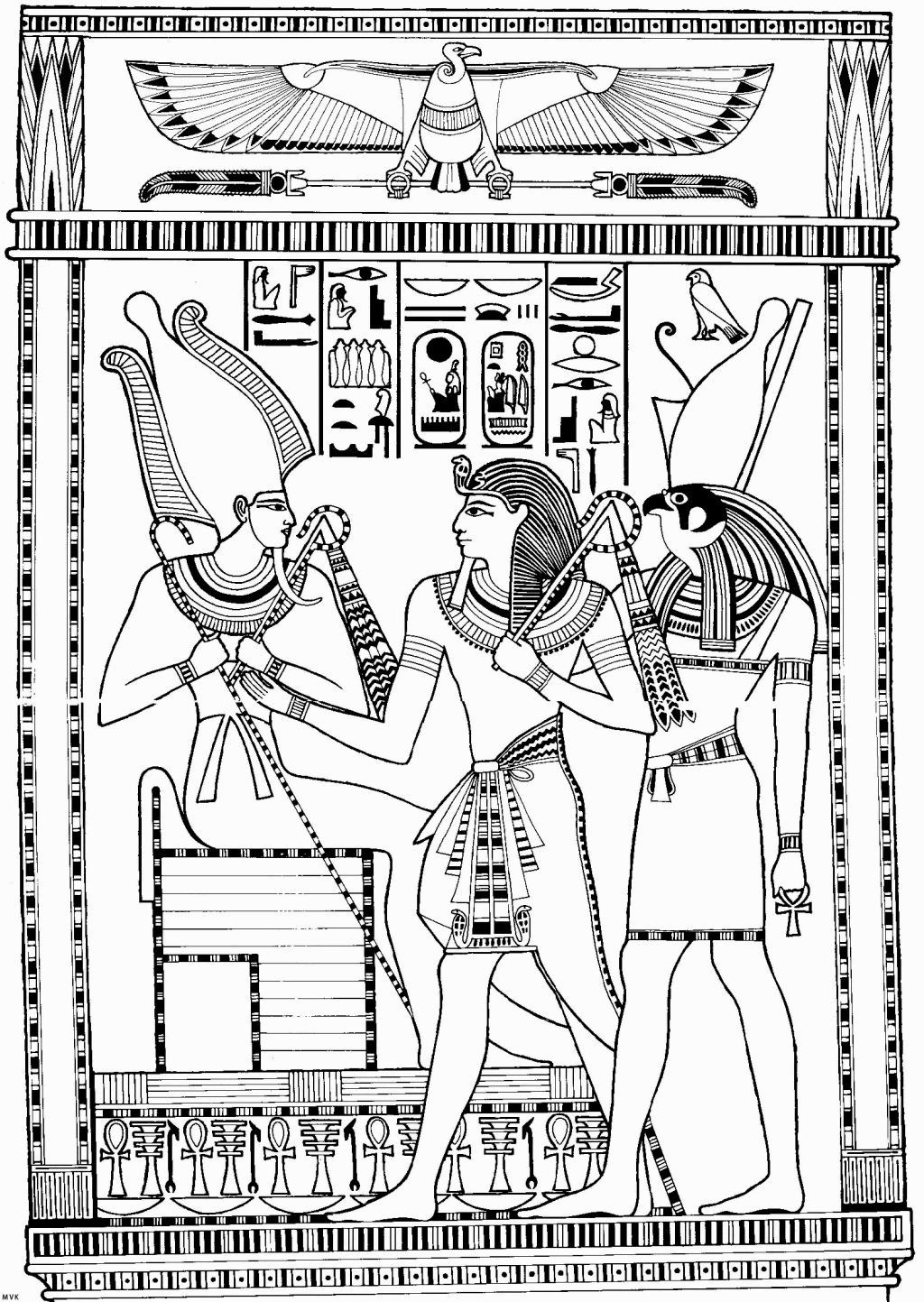 Egyptian God Coloring Pages