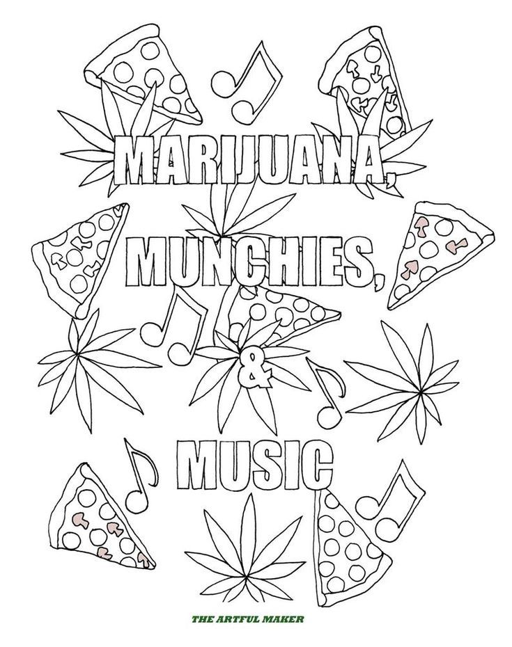 Weed Coloring Pages : coloring, pages, Marijuana, Coloring, Pages