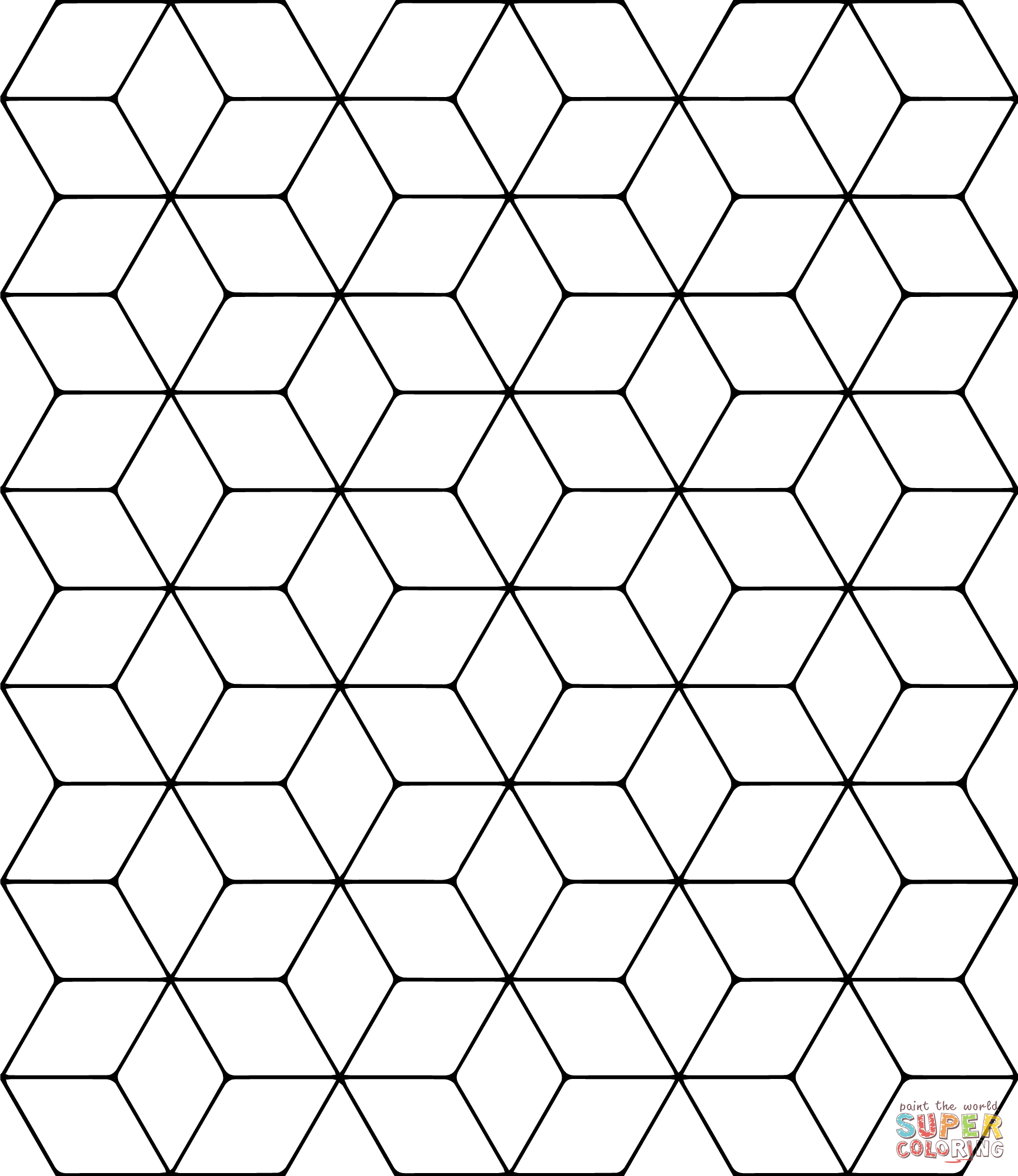 Tessellation Patterns Coloring Pages Tessellation Coloring
