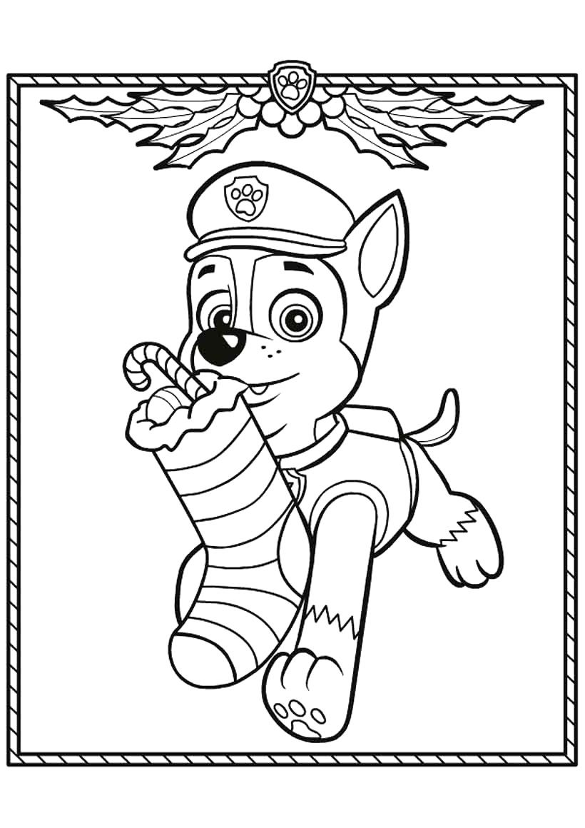 Christmas Paw Patrol Coloring Pages : christmas, patrol, coloring, pages, Patrol, Christmas, Coloring, Pages