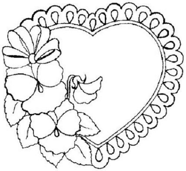 Heart Flowers Coloring Pages - Coloring Home