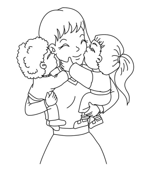 Mother And Child Coloring Pages - Coloring Home