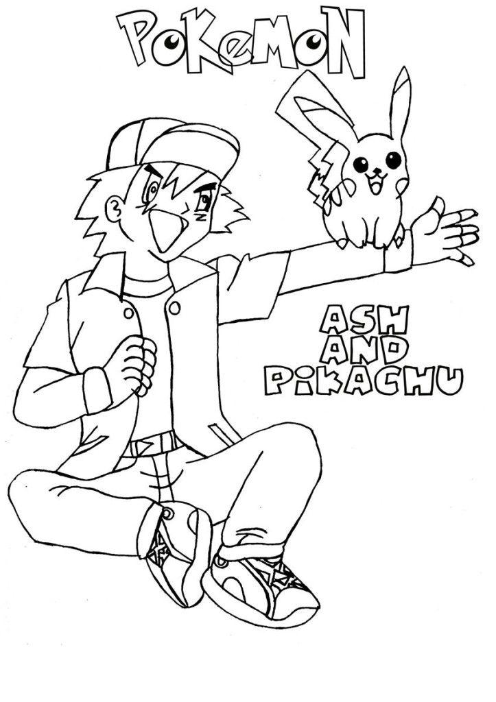 ash in pokemon  coloring home