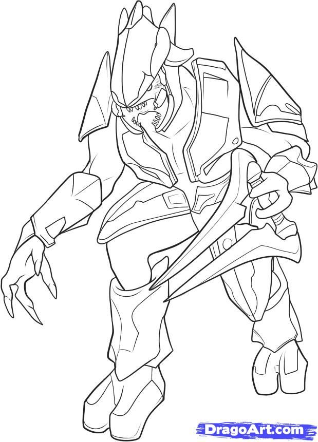 Halo 3 Coloring Pages Master Chief Coloring Pages