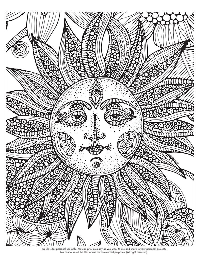 Free Printable Coloring Pages Difficult Coloring Home