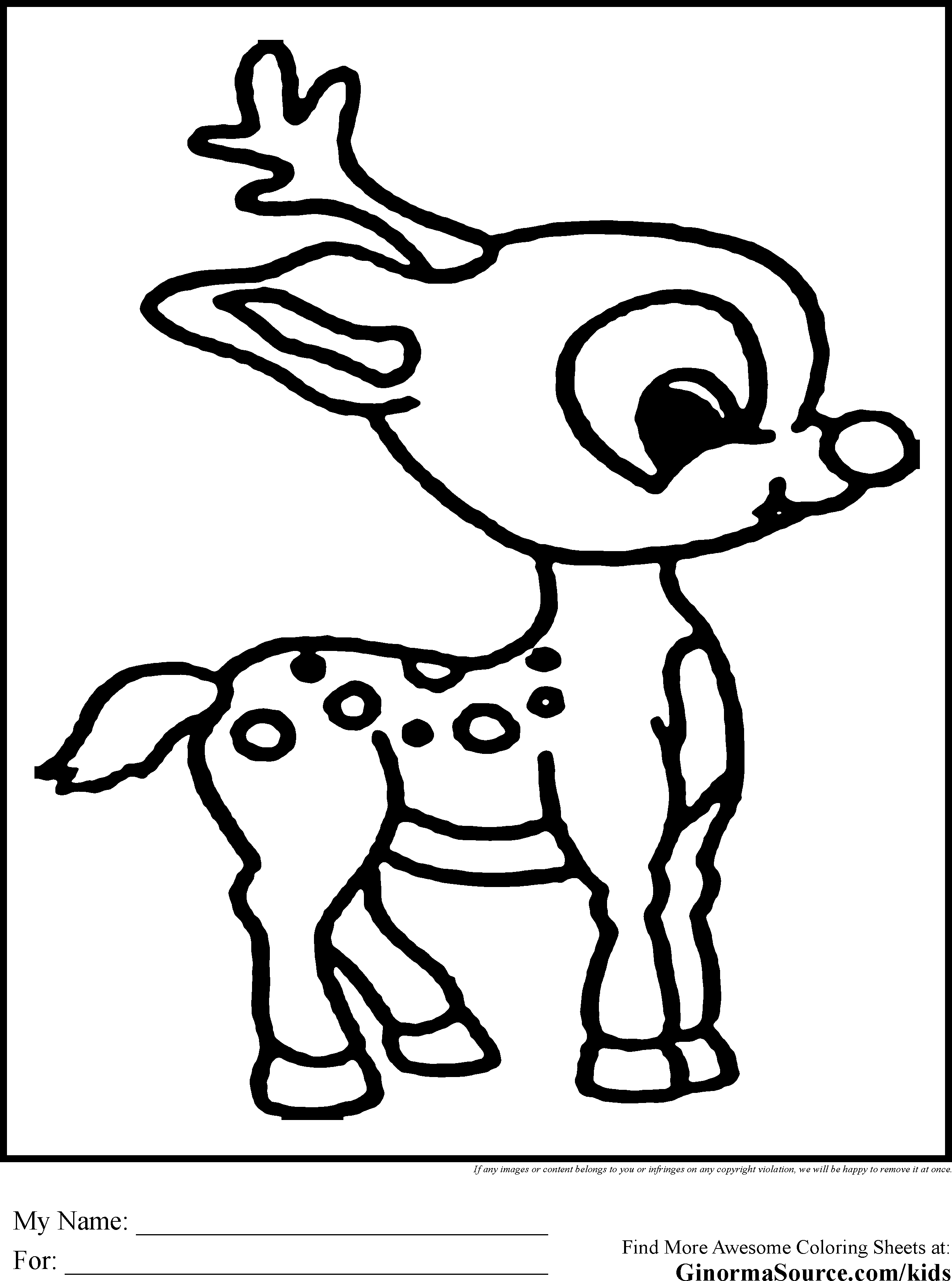 Coloring Pages Rudolf