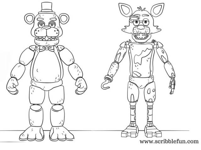 Foxy Coloring Pages - Coloring Home