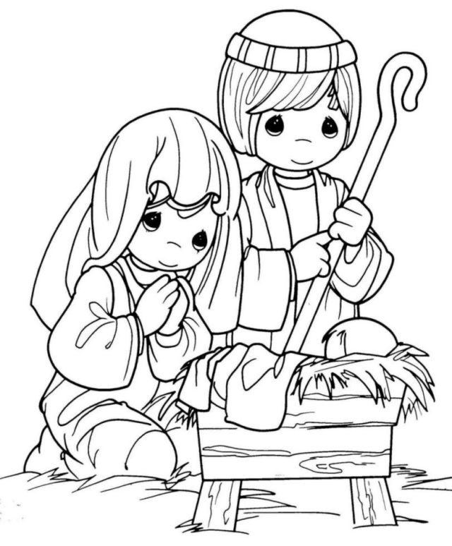 Precious Moments Coloring Pages And Book  UniqueColoringPages