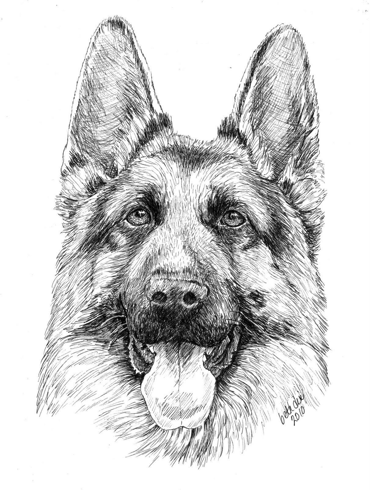 German Shepherd Coloring Pages To Download And Print For Free Coloring Home