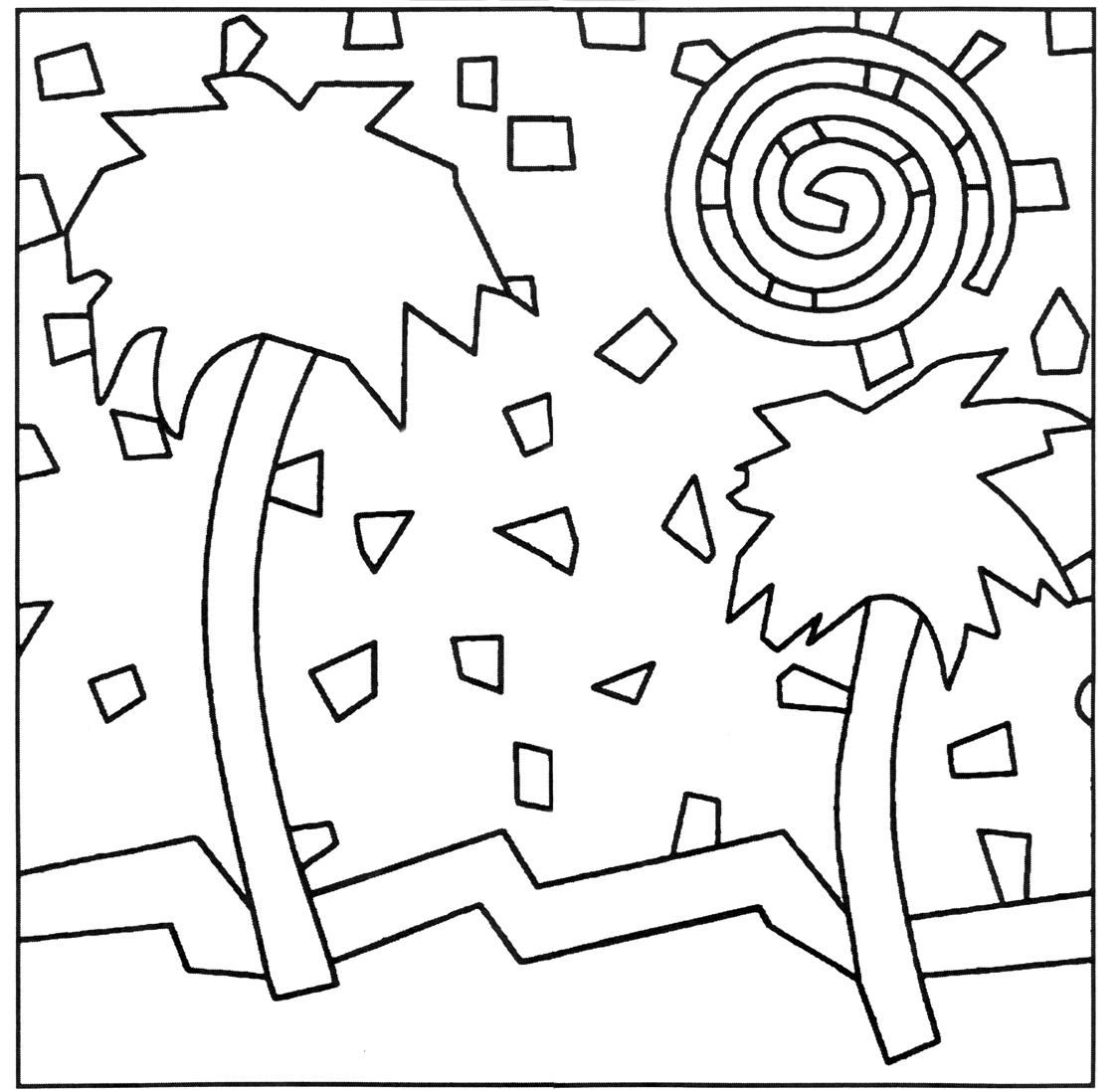 Free Mosaic Coloring Pages Printables