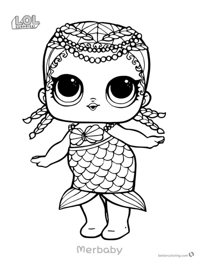 Merbaby Lol Dolls Coloring Pages Free Coloring Sheets Coloring Home