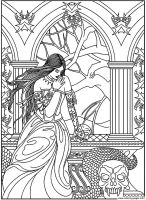 Fantasy Adult Coloring Pages   Coloring Home