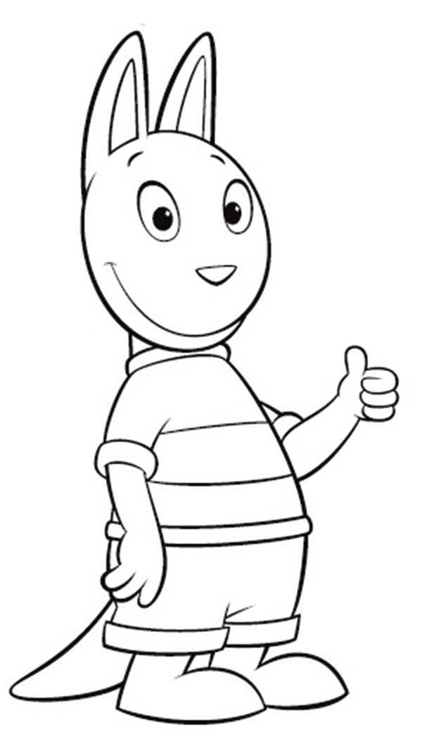 austin say its ok in the backyardigans coloring page
