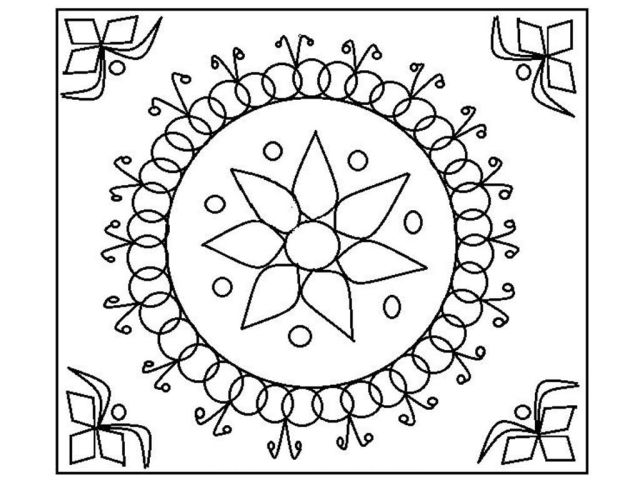 Diwali Coloring Pages Rangoli - Pages - Coloring Home