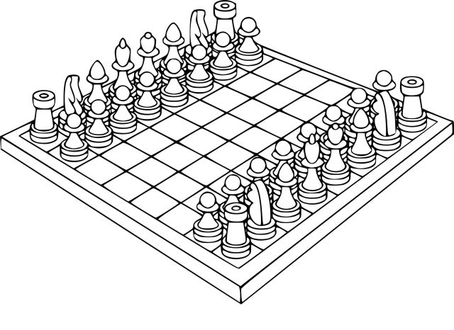 Chess Coloring Pages - Coloring Home