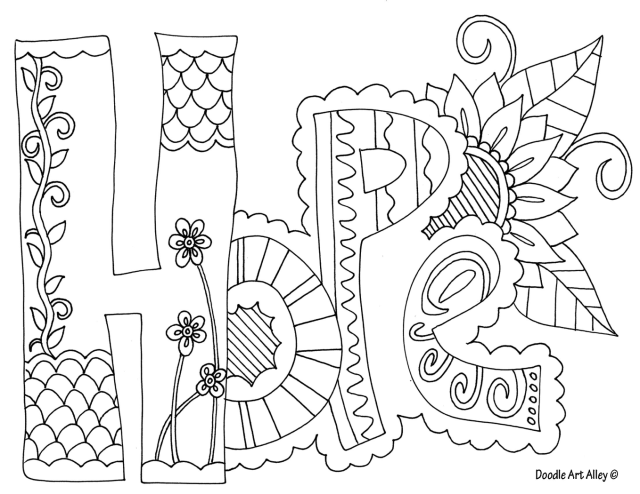 Hope Coloring Pages - Coloring Home