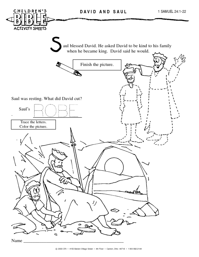 King Saul And David In The Cave Coloring Page - Coloring Home