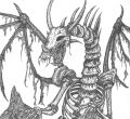 Backgrounds skeleton dragon coloring page of laptop hd pics pages bone drawings