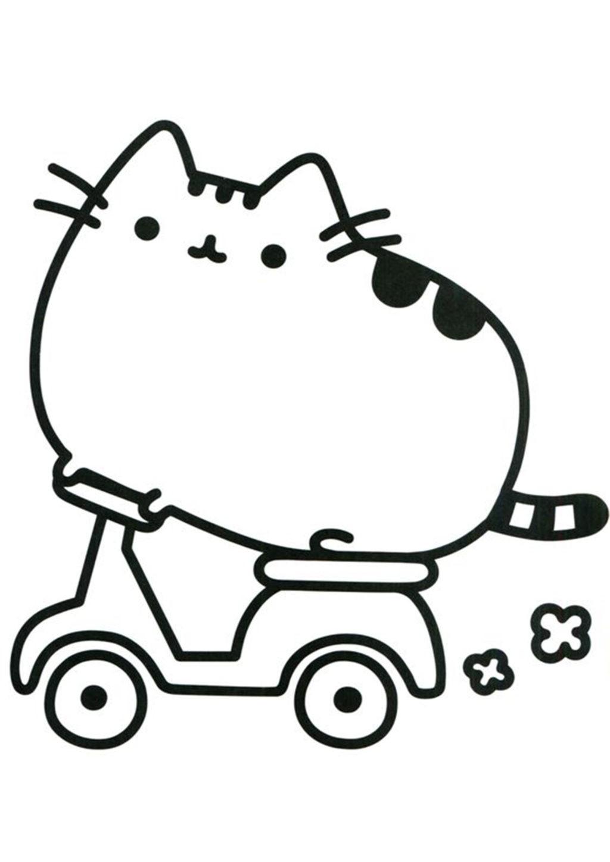 Pusheen Cat Coloring Page : pusheen, coloring, Pusheen, Coloring, Pages