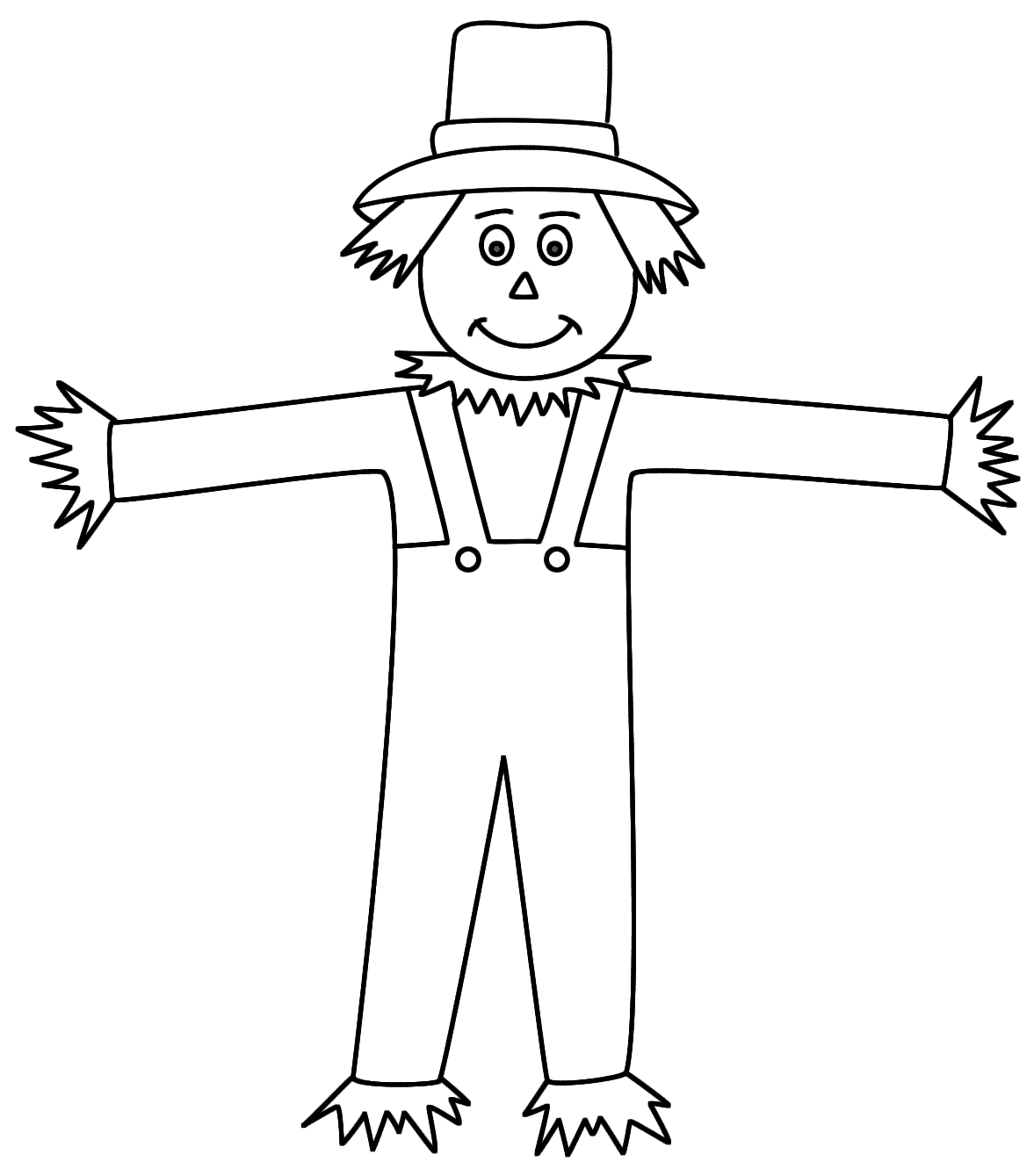 Free Printable Coloring Pages Of Scarecrows