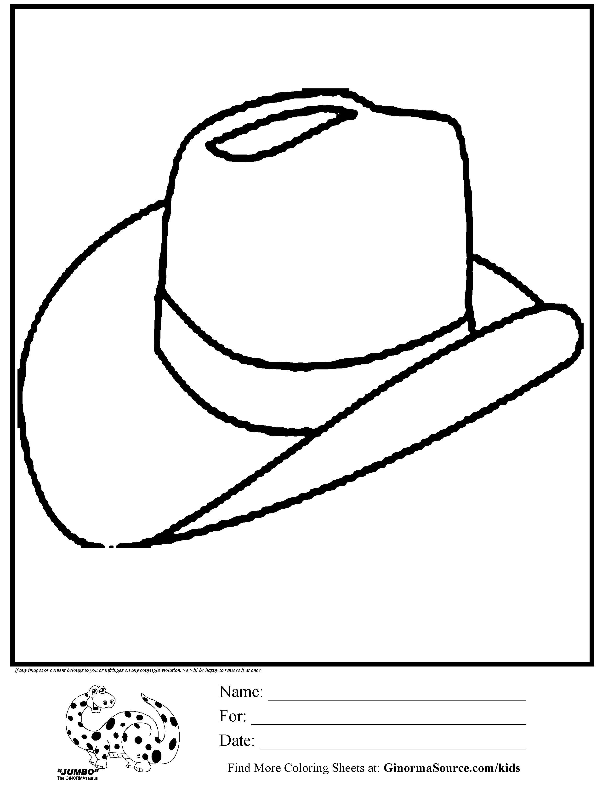 Cowboy Hat Color Page : cowboy, color, Cowboy, Coloring