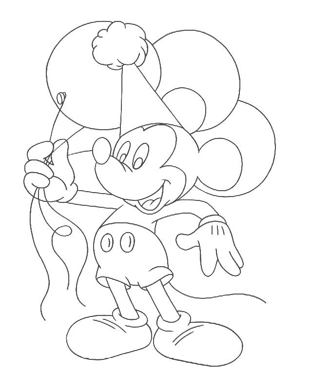 Mickey Mouse Balloon Coloring Pages - Coloring Home