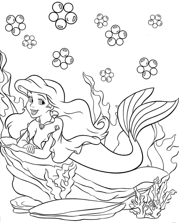 Disney Princess Winter Coloring Pages