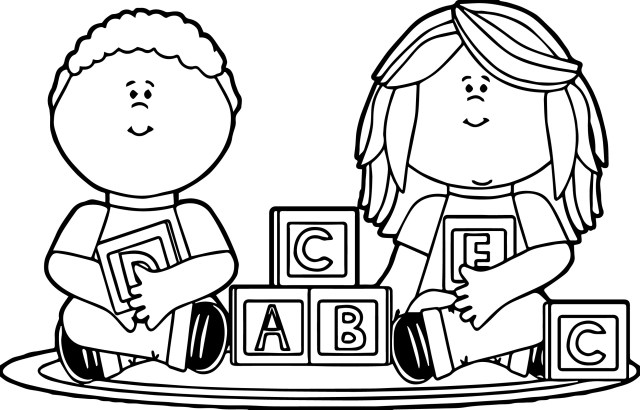 Children Playing Coloring Pages At GetDrawings  Free Download