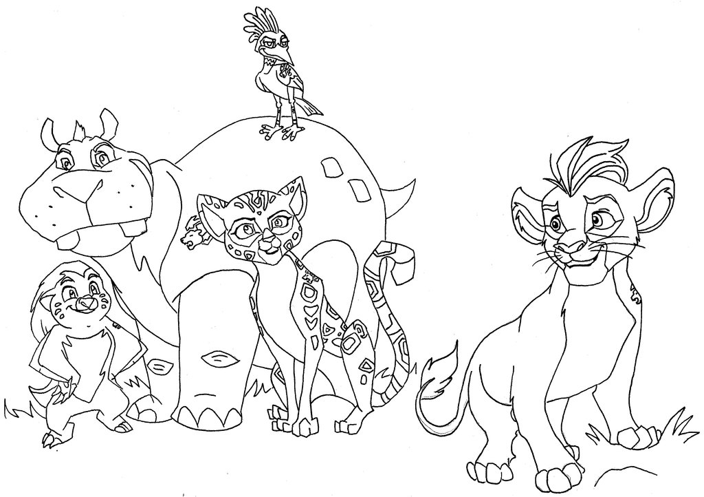 The Lion Guard Coloring Pages Coloring Home
