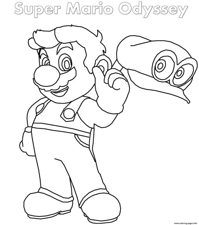 Super Mario Odyssey Coloring Pages - Coloring Home