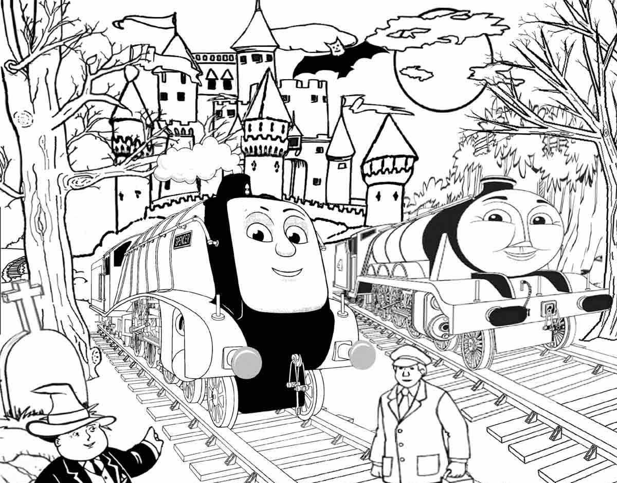 Thomas The Train Easter Coloring Pages