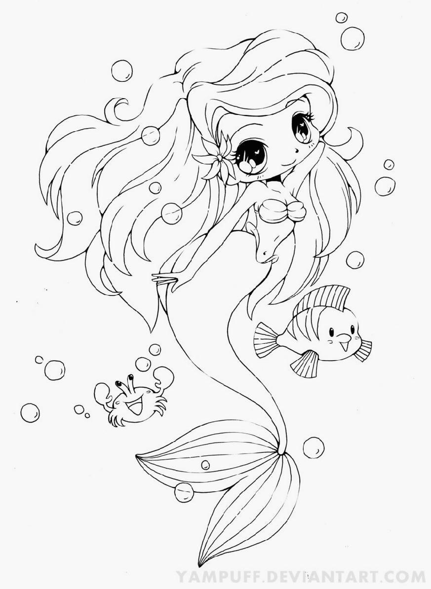 Baby Mermaid Coloring Pages : mermaid, coloring, pages, Mermaid, Coloring, Pages