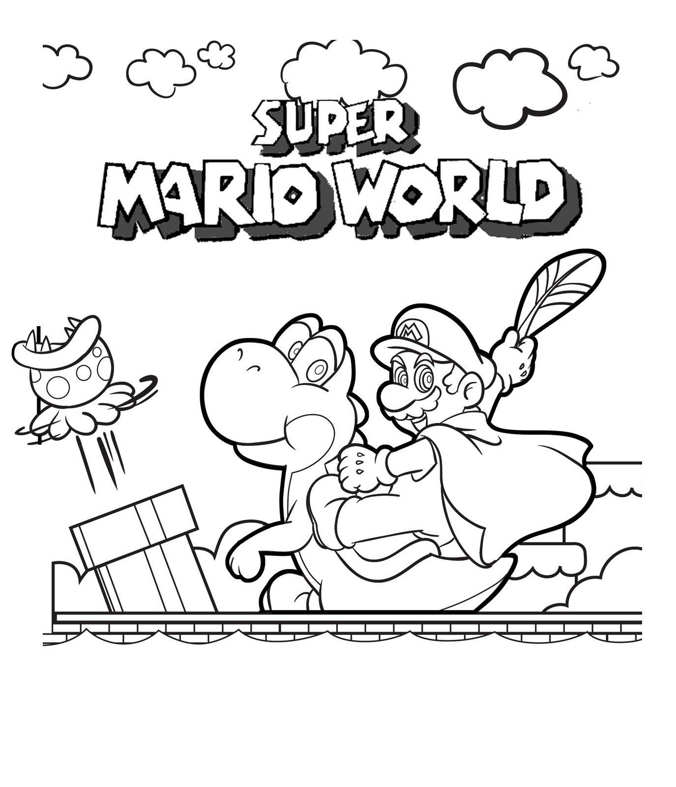 Nintendo Land Coloring Pages