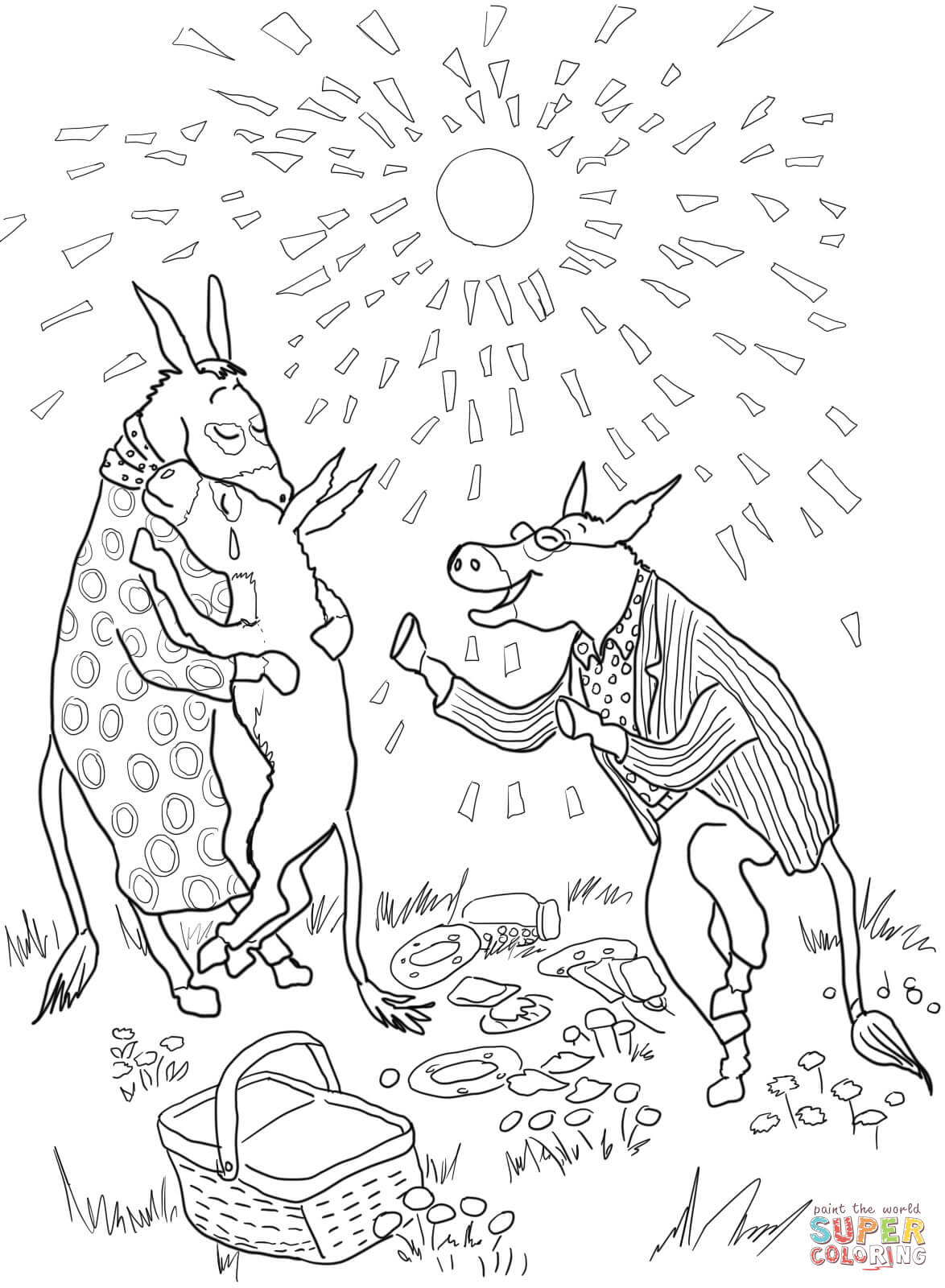 Sylvester And The Magic Pebble Coloring Page